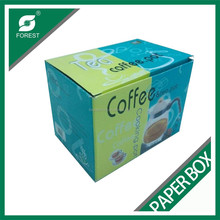 Recyclable Custom Corrugated Coffee Tea Paper Package Boxes