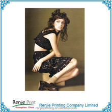 China professional printing monthly/quarterly fashion magazine printer