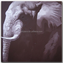 Modern thick acrylic elephant oil painting