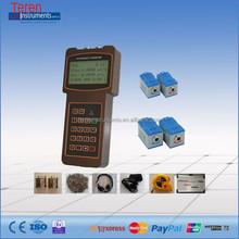 Drinking water clamp meters digital low cost hand hold / hand held ultrasonic flow meter with ultrasound sensor