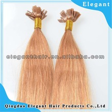 Flat Tip Pre Bonded Hair Extension, wave Indian Remy Keratin Hair