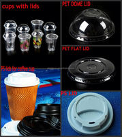 double wall paper cup with lid/ automatic plastic cup lid making machine/ cover