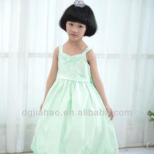 2013 nuevo satén largo atractivo partido de la manera vestidos para niños de 9 años