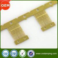 Bending process brass material terminal,economic brass female terminal,top level male brass contact terminal