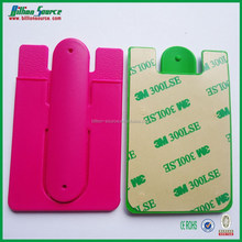 2015 giveaway promotion useful silicone card holder for all smart phone