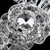 Luxury Sparkling Rose Flower Tiara Wedding Hairgrips Silver Plated Crystal Bridal Barrettes Costume Jewelry