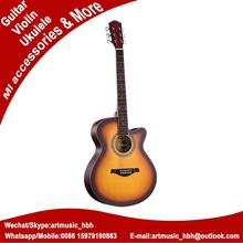 hong kong wholesale acoustic guitar,basswood top double neck guitar