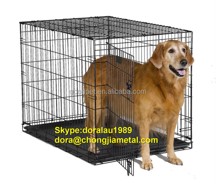 folding pet dog crate cages chinese factory