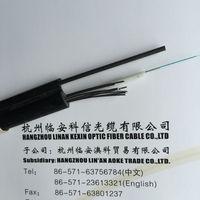 Factory price self-support 24 core fiber optical cable steel wire armored fiber optic cable - GYXTC8Y