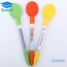 Plastic flag pen spoon shape pen for promotion