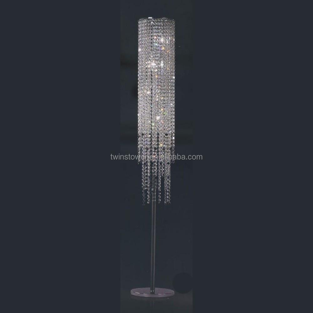 High Quality Modern Chrome Crystal Floor Lamp Buy