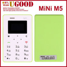Original Ultra Thin AEKU M5 Mini Card Phone Student Pocket Personality Children Phone Aiek M5 Russian Language Cell Phones