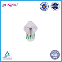 BSCI approved factory supply directly removable plastic with steel hook self adhesive wall hook