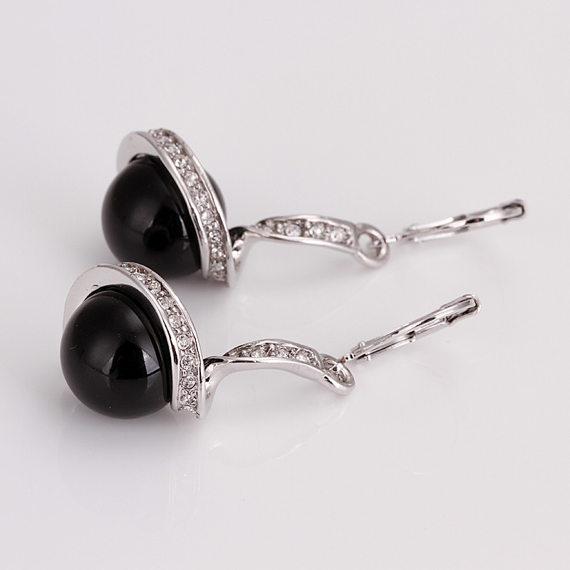 Серьги висячие Brand New ladies.hight CZ DL18KRGPE255