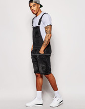 fast delivery adult bib overalls made by high quality denim fabric