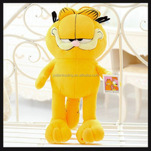 popular long leg cat of plush toy yellow Garfield cat