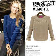 Wholesale New Casual Design Sweet Cute Girls Style Clothing Pullover Winter Sweater For Women