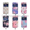 Folio Double Sides Stand Caller ID Sliding Window PC + PU Leather Oracle Texture Flower Pattern Case for iPhone 6 6S