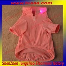 Hot sale Plain Color led flashing dog clothes pet coat