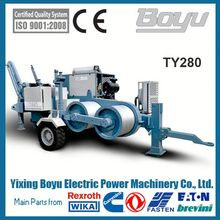 280KN overhead transmission hydraulic 28T wire puller