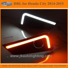 High Quality LED DRL Light for Honda City Light Guide LED Daytime Running Lights for Honda City 2014-2015