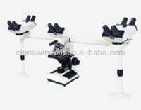 biological travelling Multi-viewing microscope for lab