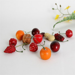 different colors mini artificial plastic toys fruits and vegetables