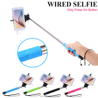 Fantastic Cell Phone Accessories cable take pole selfie stick for IOS 5.0 and Android 4.2.2 Smartphones