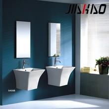 Hot! Sanitary Ware Modern Design Square Bathroom Ceramic One Piece Wall hung Wash Hand Basin 5400B