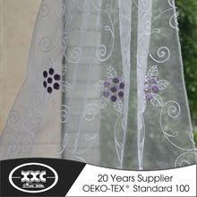 de alta calidad en caliente de la venta popular de flores bordado elegante cortina de rusia 2014 diseño