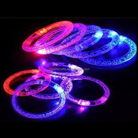 Light-Up Acrylic Bracelet Wristband LED Flashing Rave Glow Blinking