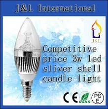 CE,EMC,RoHS Certification and Pure White Color Temperature(CCT) led bulb E14 3w