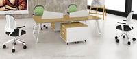 fashion nice design aluminium melamine steel frame modular workstation with pedestal cabinet