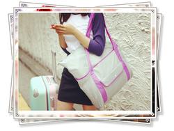 Large Capacity Reusable Foldable shopping Travel Bag Organizer ,travel duffel bag,travel time bag