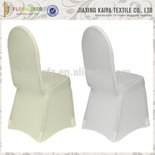 Custom banquet plain white patterned chair covers