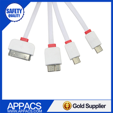 Hot selling colorful portable coiled nirco usb cable for promotion