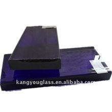 azul bloques de vidrio de cristal