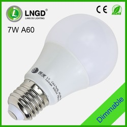7W warm white A60 dimmable led saving light bulb led saving light bulb A60 led saving light bulb