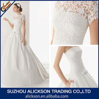 2014 Global Fashion A Line Removed Jacket With Short Sleeve Cheap Wedding Dress