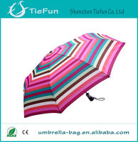 Hiigh quality automatic standard size 3 folding shaft big folding umbrella