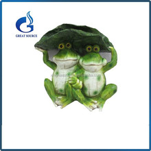 Newest painted resin garden frog decorative