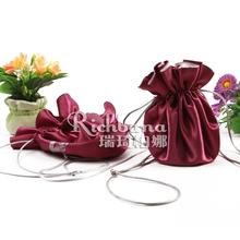 Richbana china supplier printed satin drawstring bag