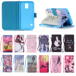 Colorful wallet leather flip case for Samsung S5 Mini , for samsung s5 mini cover case China supplier