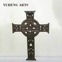 wholesale Wall Mounted Handmade Religion Cast Iron Decorative Cross