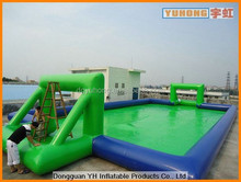 giant PVC inflatable water game football field