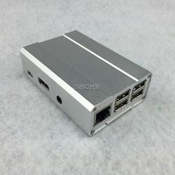 High quality aluminum case for raspberry pi 2 model B box silver/black