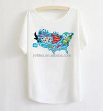 New design loose fit t-shirt,big neck t-shirt,100% cotton kids cartoon t-shirt