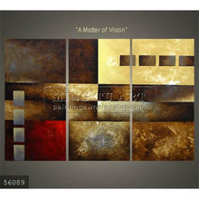 Handmade new Modern Group Abstract wall decoration Oil painting, a matter of vision,brown
