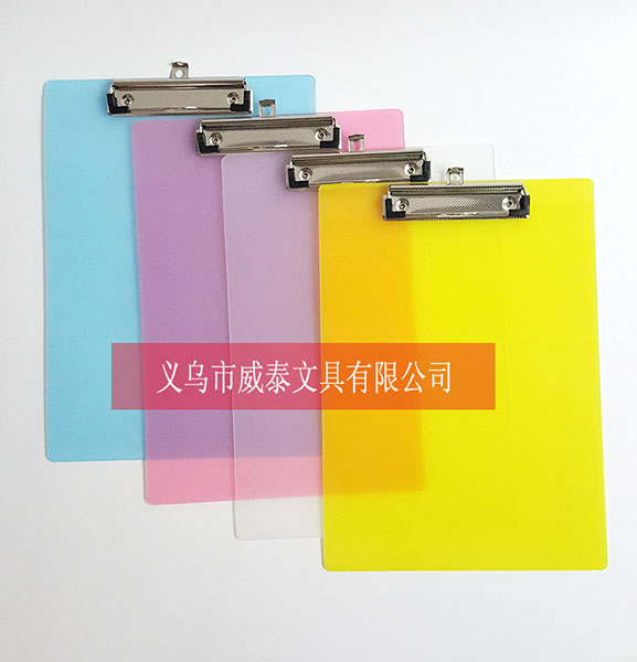 wholesale clear transparent plastic a4 clipboard