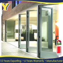 lowes room partition / aluminium folding doors / glass entry door